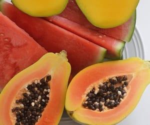 fruit, papaya, and mango image