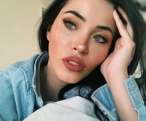 eyes, freckles, and makeup image
