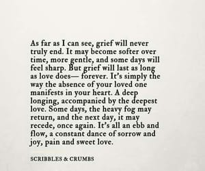 quotes, grief, and love image