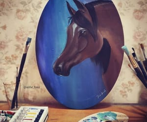 horse and Oil Painting image