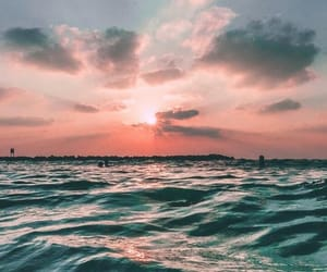 sky, wallpaper, and sea image