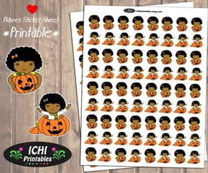 african american, black girl, and autumn stickers image