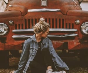 girl, car, and photography image