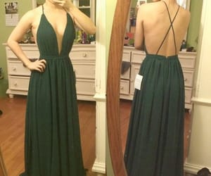 maxi dress, sexy dress, and pageant dress image