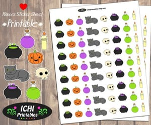 etsy, halloween stickers, and printable stickers image