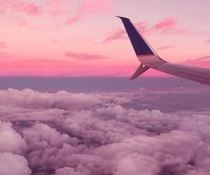 sky, pink, and plane image