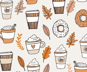 wallpaper, autumn, and coffee image