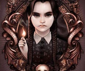 wallpaper and wednesday addams image