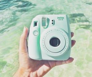 polaroid, camera, and green image