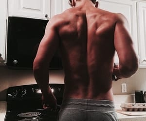 body, hot guy, and back muscle image