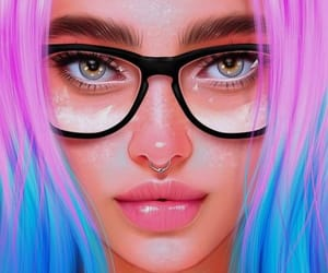 art, beautiful face, and girl image