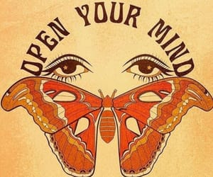 butterfly, chakras, and eyes image