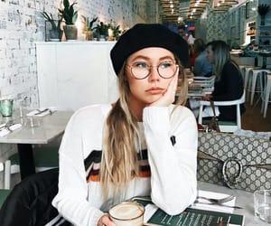 girl, fashion, and coffee image