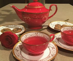 tea, aesthetic, and red image