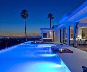 pool, luxury, and blue image