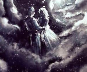moon, love, and art image