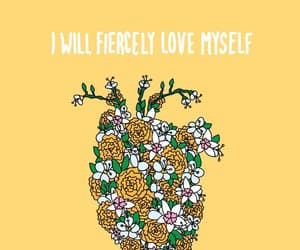 heart, yellow, and flowers image