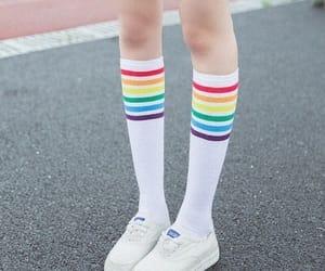 legspo, socks, and rainbow image