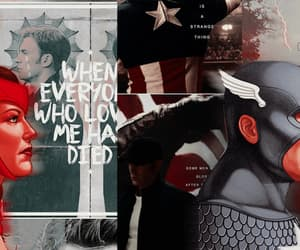 Marvel, scarlet witch, and steve rogers image