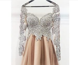 prom dress short, prom dress lace, and high neck prom dress image