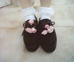 creepers, flowers, and shoes image