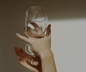 glass, aesthetic, and hand image