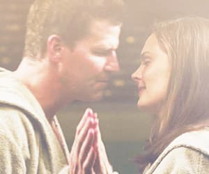 david boreanaz, emily deschanel, and gif image