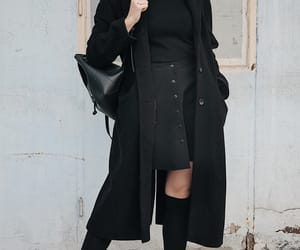 autumn, black, and clothes image