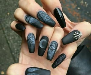 nails, black, and Halloween image