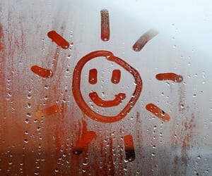 rain, sun, and smile image