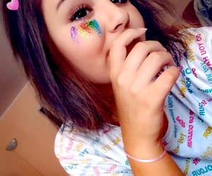 makeup, rainbow, and polishgirl image