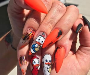 Halloween, mickey mouse, and nail art image
