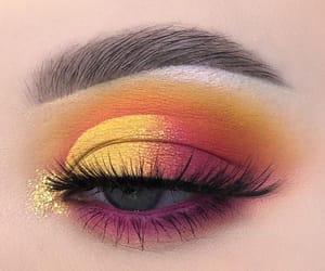eye makeup, makeup, and beauty image
