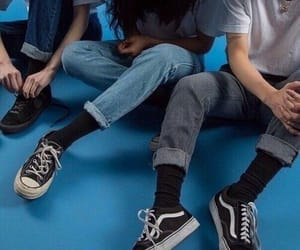 vans, grunge, and blue image