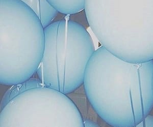 aesthetic, baloons, and blue image