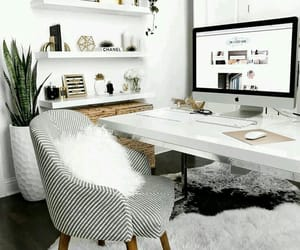 work, work space, and homedecor image