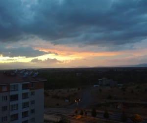 rainy, sunset, and rainydays image