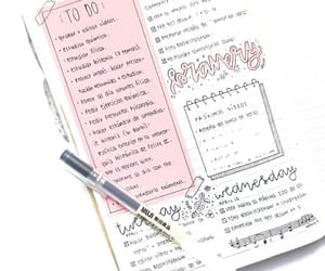 school, study, and bujo image