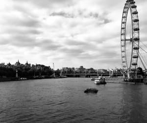 london, londoneye, and thames image