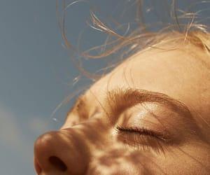 girl, aesthetic, and sun image
