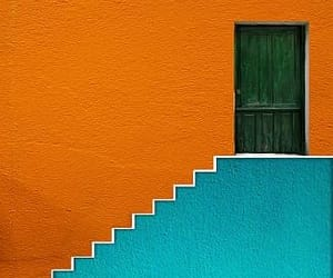 blue, door, and multicoloured image
