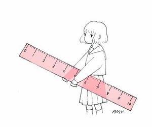 pink, cute, and ruler image