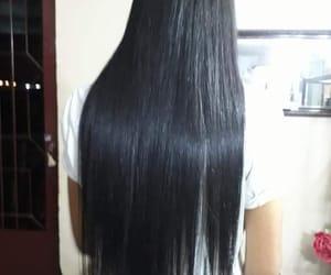 cabelo, long hair, and hair image