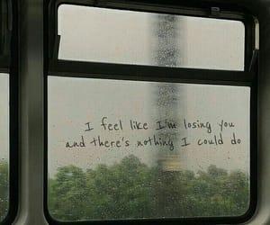 rain, window, and love image