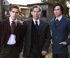 damon, tvd, and salvatore image