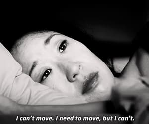 black and white, sandra oh, and sad quotes image