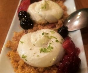 berries, delicious, and cheese cake image