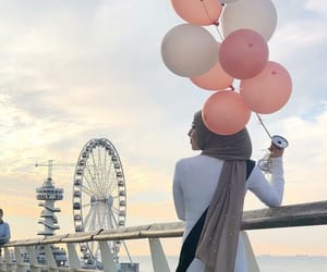 balloon, birthday, and pastel image