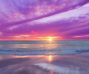 beach, sunset, and cool image