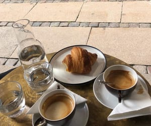 coffee, cafe, and croissant image